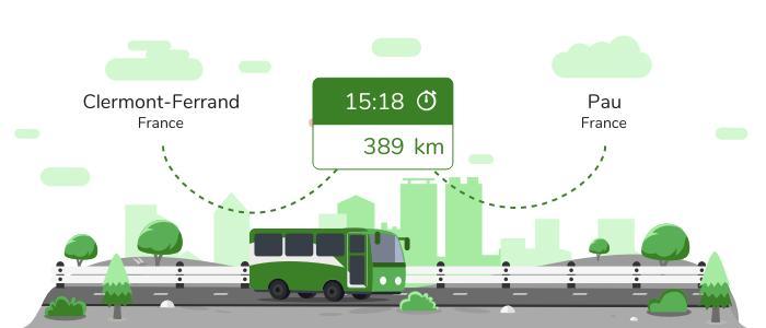 Clermont-Ferrand Pau en bus