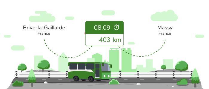 Brive-la-Gaillarde Massy en bus
