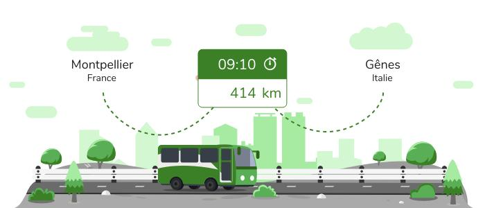 Montpellier Gênes en bus