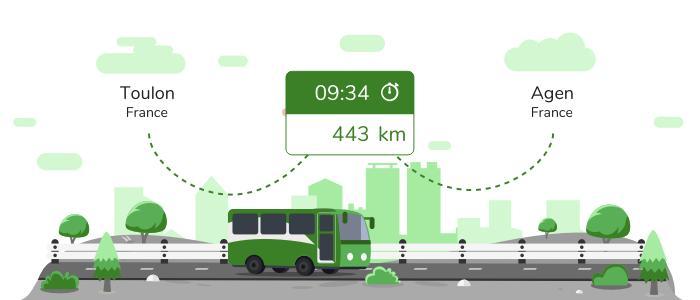 Toulon Agen en bus