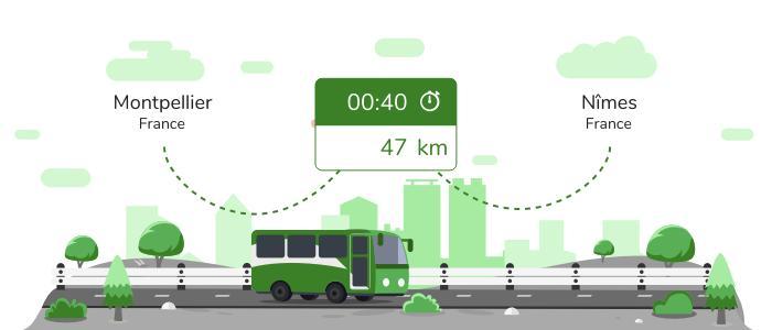 Montpellier Nîmes en bus