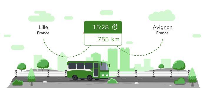 Lille Avignon en bus
