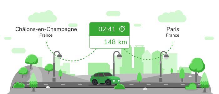 Informations pratiques pour vos covoiturages entre Châlons-en-Champagne et Paris