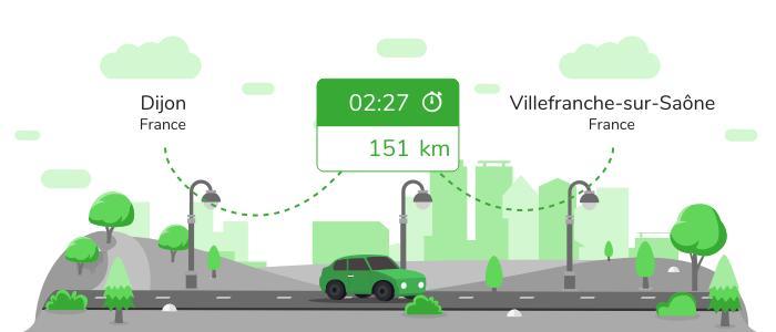 Informations pratiques pour vos covoiturages entre Dijon et Villefranche-sur-Saône