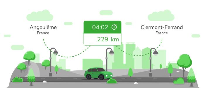 Informations pratiques pour vos covoiturages entre Angoulême et Clermont-Ferrand