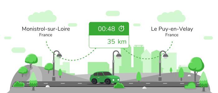 Informations pratiques pour vos covoiturages entre Monistrol-sur-Loire et Le Puy-en-Velay