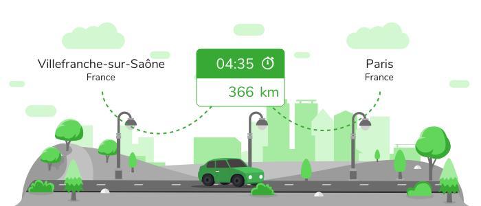 Informations pratiques pour vos covoiturages entre Villefranche-sur-Saône et Paris