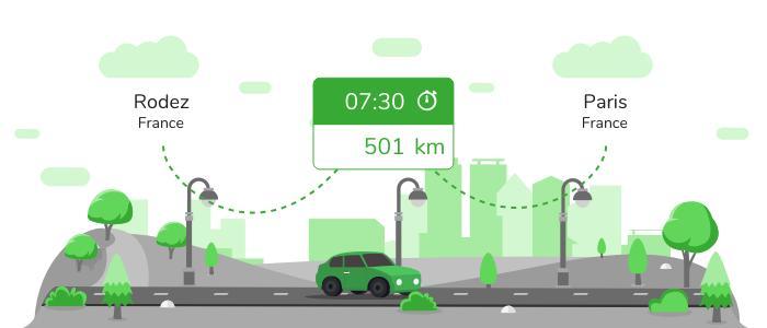 Informations pratiques pour vos covoiturages entre Rodez et Paris