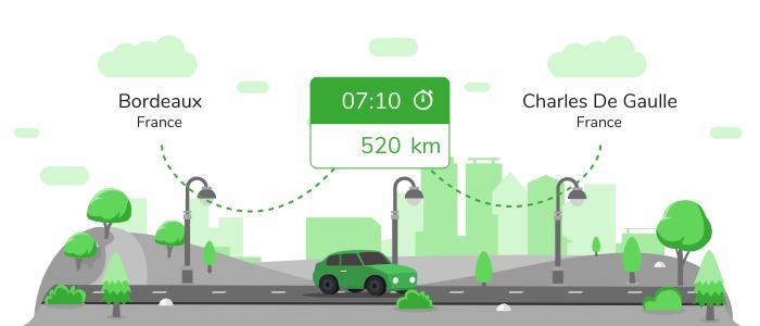 Informations pratiques pour vos covoiturages entre Bordeaux et Aéroport Charles de Gaulle