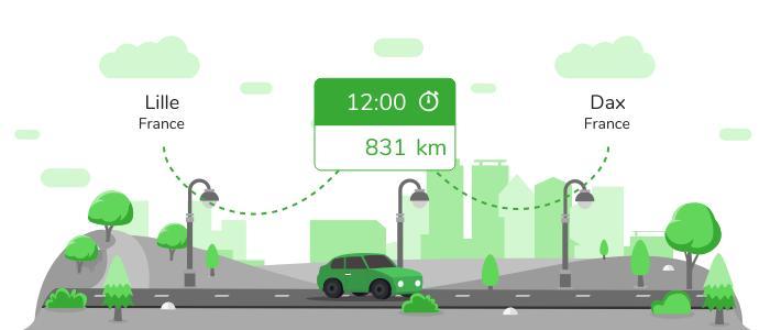 Informations pratiques pour vos covoiturages entre Lille et Dax