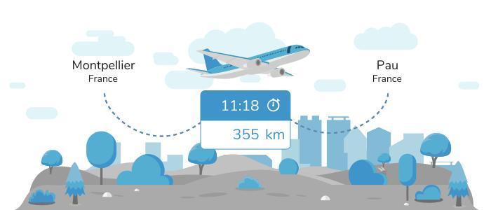 Aller de Montpellier à Pau en avion