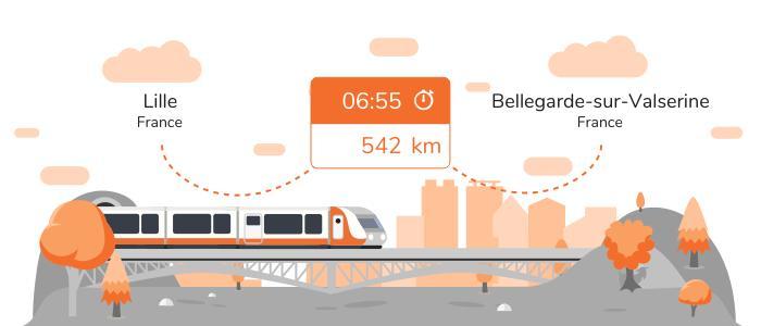 Infos pratiques pour aller de Lille à Bellegarde-sur-Valserine en train