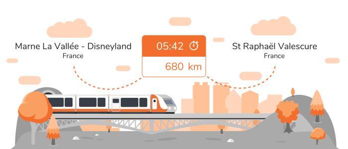 Infos pratiques pour aller de Marne la Vallée - Disneyland à St Raphaël Valescure en train